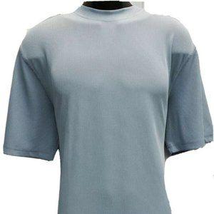 LOG-IN UOMO Men's Blue T-Shirt Ribbed